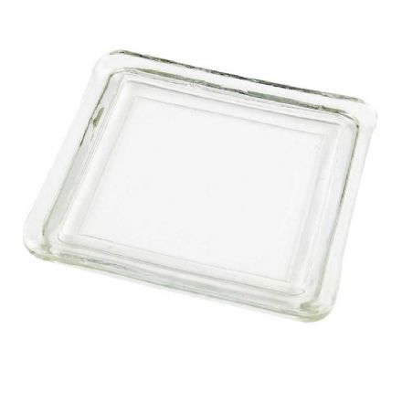 Square Glass Candle plate